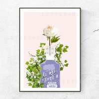 Parma Violet Gin Poster, Print