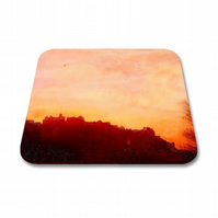 Edinburgh Castle Sunset Coaster