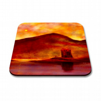 Castle Stalker Sunset Coaster