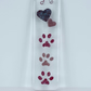 Fused Glass Paws to your Heart Glass Panel.Suncatcher.Wall Decor