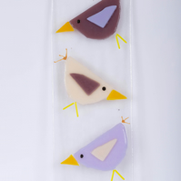 Fused Glass Bird Panel.Bird Sun Catcher.Bird Lover.Garden Art.Wall Hanging.