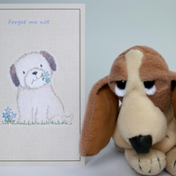 Forget me Not - Blank pet bereavement, pet loss Card