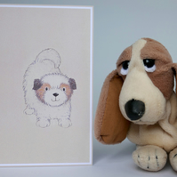 Pet Invitation to Play, Blank greetings card