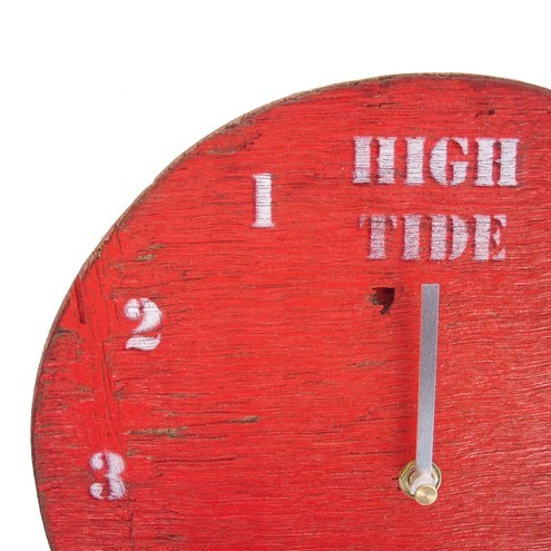 Tide Clock - Red Driftwood