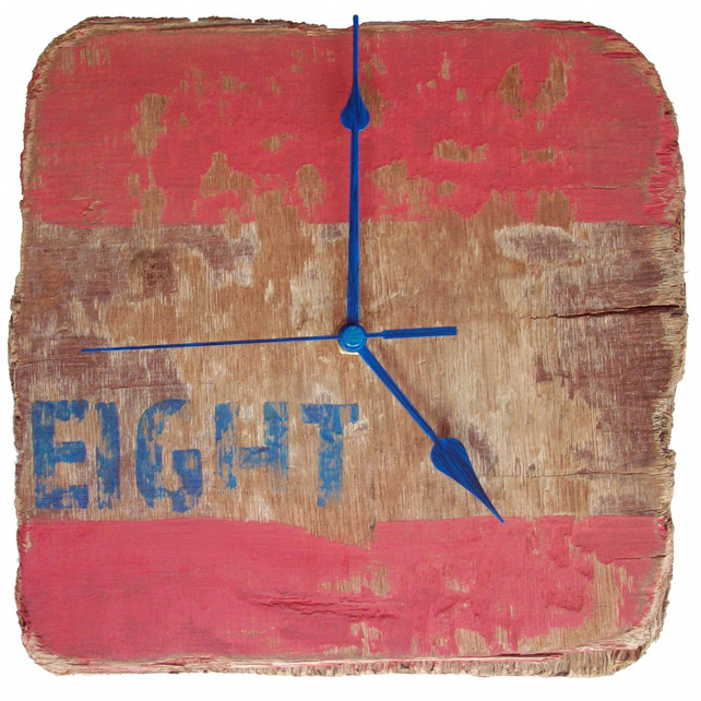 "Clock - Driftwood ""Eight"" Wall Clock"