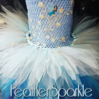 Fairy dress. Blue fairy dress. Water fairy dress
