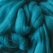 Merino Wool tops fibre, turquoise roving, 100g Needle or wet felting spinning