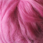 Merino Wool tops fibre, berry pink roving, 100g Needle or wet felting spinning