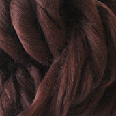 Merino Wool tops fibre, chestnut brown roving, 100g Needle wet felting spinning