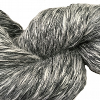 Alpaca, organic Merino, Silk Hand Spun Luxury yarn, sport weight, 497 yards