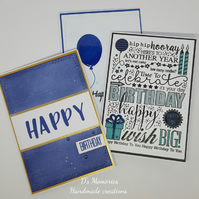 Pack of birthday cards, male, boy designs, handmade