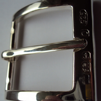 """The Albany"" Solid Sterling Silver Belt Buckle"