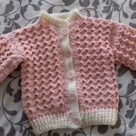 Hand croshet baby cardigan for 3-6months baby
