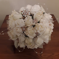 Be-jewelled wedding bouquet