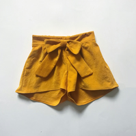 Mustard Yellow Shorts, Girls Corduroy Shorts, Girls Autumn Fashion