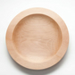 Beech hand-turned wood bowl, 24.5 cm diameter (approx.)