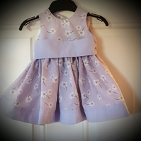 Handmade little girls party dress