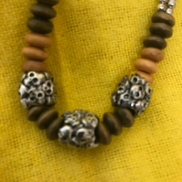 Beaded Skull necklace