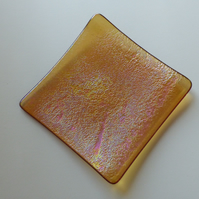 Fused Glass Textured Shallow Plate