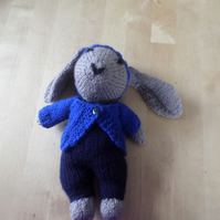 Hand knitted soft toy - Bunny