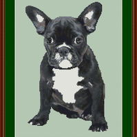 PDF chart for a Black Frenchie dog