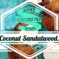 Coconut Sandalwood Pure Soy Wax Candle.