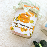 Orange Blossom Dream Pure Soy Wax Candle.