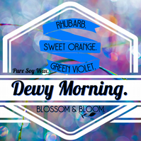 Dewy Morning Pure Soy Wax Candle.