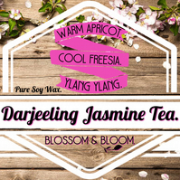 Darjeeling Jasmine Tea Pure Soy Wax Candle.
