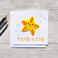 FELT You're a Star greeting card