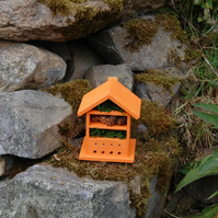 Orange  Wooden Insect House - Bug Hotel - Gardening Gifts