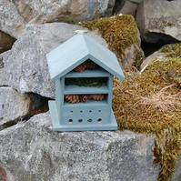 Sea Green Wooden Insect House - Bug Hotel - Gardening Gifts