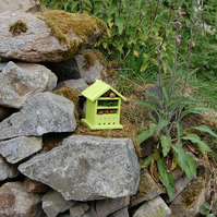 Lime Green Wooden Insect House - Bug Hotel - Gardening Gifts