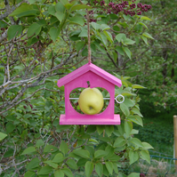 Hot Pink Wooden Bird Feeder - Gardening Gifts