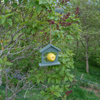 Sage Green Wooden Bird Feeder - Gardening Gifts