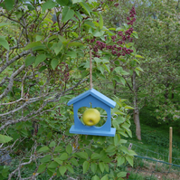 Periwinkle Blue Wooden Bird Feeder - Gardening Gifts