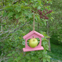 Baby Pink Wooden Bird Feeder - Gardening Gifts