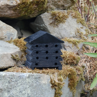 Midnight Black Wooden Bee Hive House, Insect House, Gardening Gifts