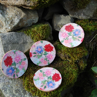 FLOWERS COASTERS - SET OF 4 -
