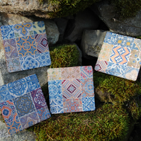 MOROCCAN TILE COASTERS - SET OF 4