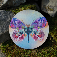 LARGE FLORAL BUTTERFLY COASTER - TABLE CENTRE