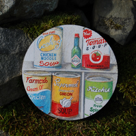 LARGE RETRO SOUPS COASTER - TABLE CENTRE