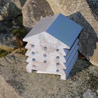 Grey Gray Chicken Rooster - Wooden Bee Hive House - Insect House - Bug Hotel