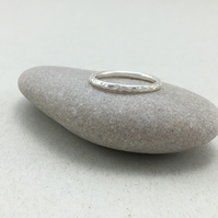 Hammered 2mm Sterling Silver Stacking Ring