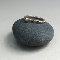 Solid 9ct Yellow Gold Pebble Stacking Ring
