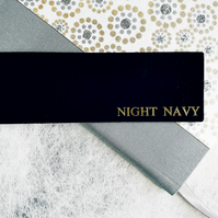 Personalised Black Bookmark, Leather. Silver, Copper or Gold Print.