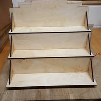 Stepped or Tiered Shelf Display