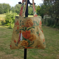 Floral Canvas Bag, Tote Bag Collection, Unique, a Gift For Her.