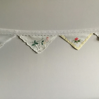Vintage Wedding Party Bunting made from Pre-loved Cotton
