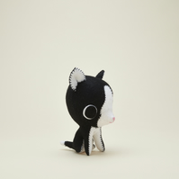 Black and white tuxedo cat ornament